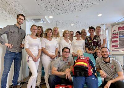 Notfalltraining Praxis Dr. Pihusch, Rosenheim